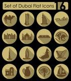 Set of Dubai icons Royalty Free Stock Photos
