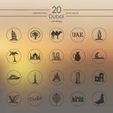 Set of Dubai icons Stock Photography