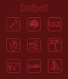 Set of Dubai simple icons Stock Images