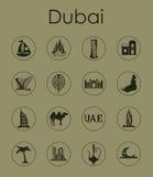 Set of Dubai simple icons Stock Photos
