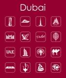 Set of Dubai simple icons Royalty Free Stock Photo