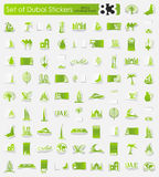Set of Dubai stickers Royalty Free Stock Images
