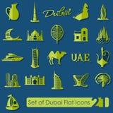 Set Dubaj ikony Zdjęcie Royalty Free