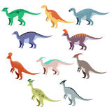 Set of duck dinosaurs Royalty Free Stock Photos