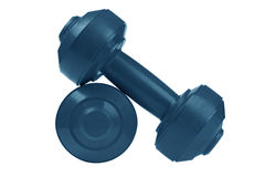 Set of dumb bells on a white Royalty Free Stock Photography
