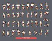 Set of dumbbell exercises Royalty Free Stock Photo