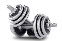Set of dumbbell for fitness Royalty Free Stock Image