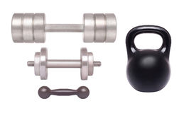 Set Dumbbell Royalty Free Stock Photos