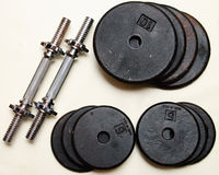 Set of dumbbell weights Royalty Free Stock Photography
