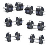 Set of dumbbells Royalty Free Stock Photography