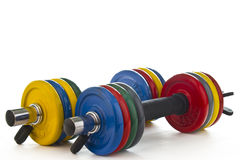 Set of dumbbells Stock Image