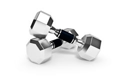 Set of dumbells Stock Photography