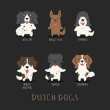 Set of dutch dogs Royalty Free Stock Photography