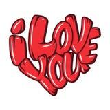 Set Duzi serca z literowaniem o miłości, typografia plakat dla walentynka dnia, karty, druki Zdjęcia Royalty Free