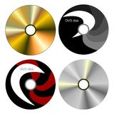 Set DVD disk with both sides Royalty Free Stock Image