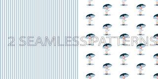 Set dwa bezszwowego wzoru w błękitnym kolorze ilustracji