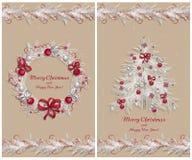 Set dwa kartka z pozdrowieniami Zdjęcie Royalty Free