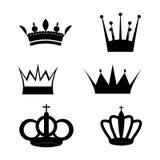Set dwa korony matrycuje ilustracji