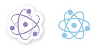 Set dwa rodzaju atom Prości elementy dla budować cząsteczkowe struktury ilustracja wektor