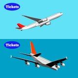 Set dwa samolotu na tle, Obrazy Royalty Free