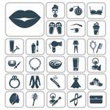 Set dwadzieścia siedem piękno ikon Obraz Royalty Free