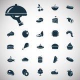 Set dwadzieścia siedem karmowych ikon Obrazy Stock