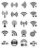 Set dwadzieścia wifi ikon Fotografia Royalty Free