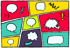 Set dynamic comic speech bubbles different emotion Royalty Free Stock Image