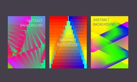 Set of dynamic gradient posters royalty free stock image