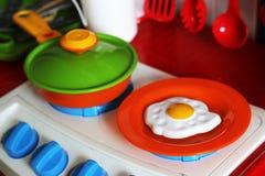 Set dzieciaków naczynia Dziecka ` s zabawki Dziecka ` s kuchni gra Obraz Stock
