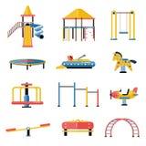 Set dzieciaka boiska wektorowi elementy w płaskim projekcie Dzieci ilustracja wektor