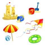 Set dziecko rzeczy plaża Obrazy Stock