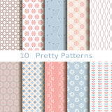 Set dziesięć ładnych wzorów Obrazy Stock