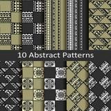 Set dziesięć abstrakcjonistycznych wzorów Obraz Royalty Free