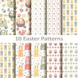 Set dziesięć Easter wzorów Fotografia Royalty Free