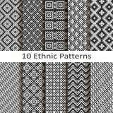 Set dziesięć etnicznych wzorów Zdjęcie Royalty Free