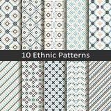 Set dziesięć etnicznych wzorów Zdjęcie Stock