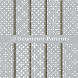 Set dziesięć geometrycznych wzorów Zdjęcie Stock