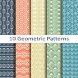 Set dziesięć geometrycznych wzorów Fotografia Stock
