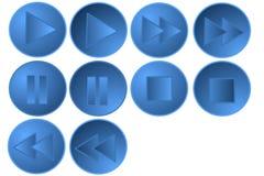 Set Dziesięć Kontrolnych guzików Fotografia Royalty Free