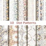 Set dziesięć kropek wzorów Zdjęcie Stock