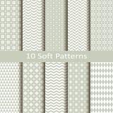 Set dziesięć miękkich wzorów Fotografia Royalty Free