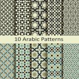 Set dziesięć wektorów arabskich geometrycznych wzorów Obraz Royalty Free