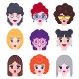 Set dziewczyny avatar ilustracji