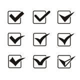 Set dziewięć różnych popielatych i białych wektorowych czeków Obrazy Royalty Free