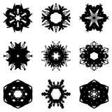 Set dziewięć ręka remisu elementów dla projekta obraz stock