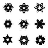 Set dziewięć ręka remisu elementów dla projekta obrazy stock