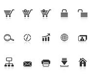 Set of e-commerce icons. For internet site design isolated on white background