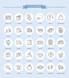 Set of E-commerce Icons Royalty Free Stock Image