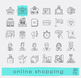 Set of e-commerce icons. Stock Photography